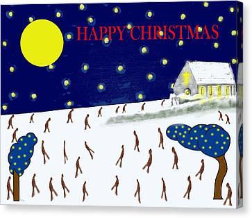 Happy Christmas 95 Canvas Print by Patrick J Murphy