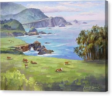 Happy Cows, Big Sur Canvas Print