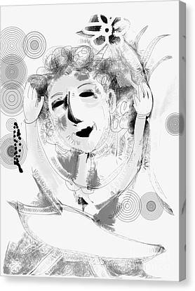 Happy Dance Canvas Print by Elaine Lanoue
