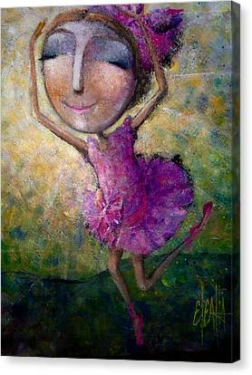 Canvas Print featuring the painting Happy Dance by Eleatta Diver