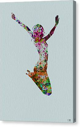 Happy Dance Canvas Print by Naxart Studio
