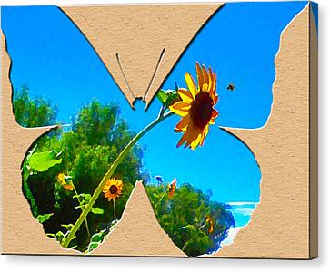 Happy Day Greeting Card Canvas Print by Adele Moscaritolo