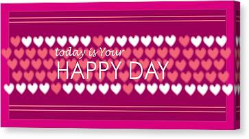 Happy Day Canvas Print by Hye Ja Billie