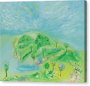 Happy Days. Landscape Canvas Print