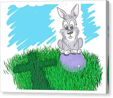 Happy Easter Canvas Print by Antonio Romero