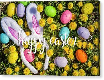 Canvas Print featuring the photograph Happy Easter by Teri Virbickis