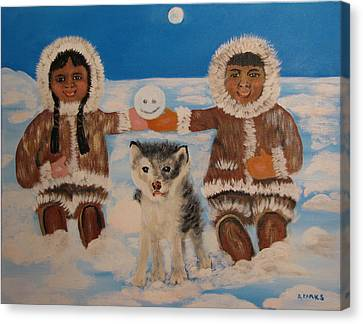 Happy Eskimo's Canvas Print