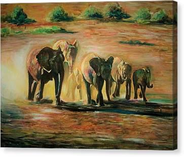 Happy Family Canvas Print