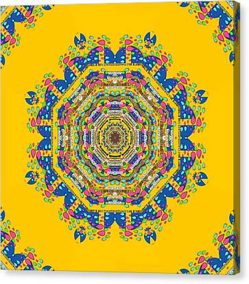 Happy Fantasy Earth Mandala Canvas Print