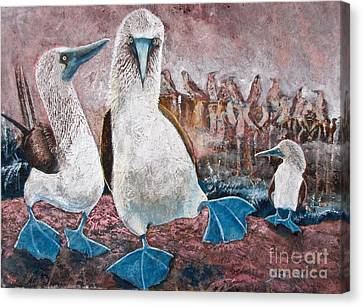 Happy Feet Canvas Print by Debi Bond