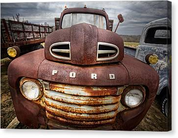 Happy Ford Canvas Print by Debra and Dave Vanderlaan