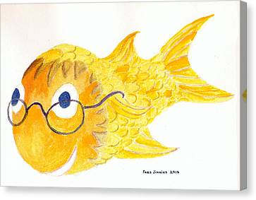 Happy Golden Fish Canvas Print