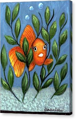 Happy Goldfish Canvas Print