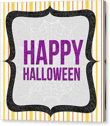 Happy Halloween-art By Linda Woods Canvas Print by Linda Woods