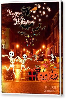 Happy Halloween At Hope Street Canvas Print