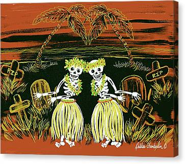 Happy Halloween Dance Canvas Print
