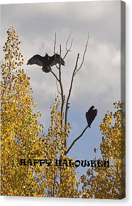 Canvas Print featuring the photograph Happy Halloween by Daniel Hebard