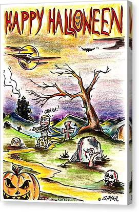 Happy Halloween Canvas Print by James Sayer