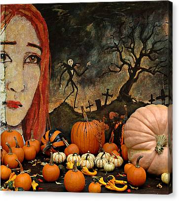 Happy Halloween Canvas Print by Jeff Burgess