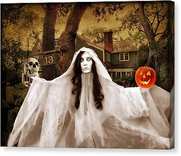 Happy Halloween Canvas Print by Jessica Jenney