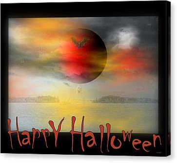 Happy Halloween Canvas Print by Linda Galok