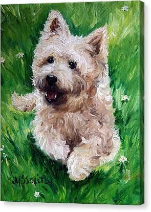 Happy Canvas Print by Mary Sparrow