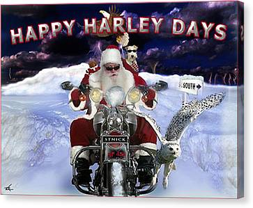 Happy Harley Days Canvas Print