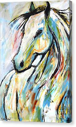 Canvas Print featuring the painting Happy Heart by Cher Devereaux