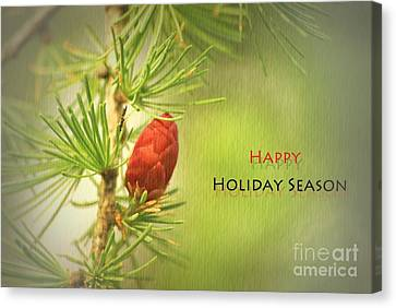 Canvas Print featuring the photograph Happy Holiday Season Card by Aimelle