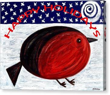 Happy Holidays 3 Canvas Print by Patrick J Murphy