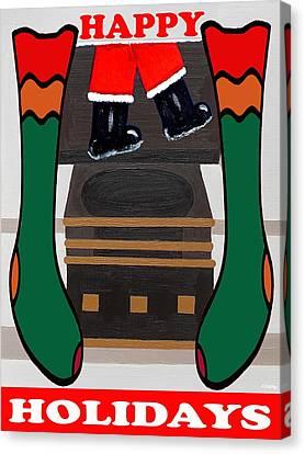 Happy Holidays 4 Canvas Print by Patrick J Murphy