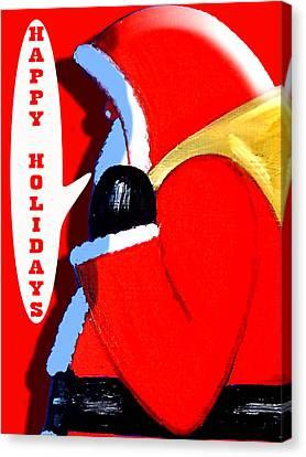 Happy Holidays 6 Canvas Print by Patrick J Murphy