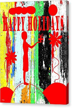 Happy Holidays 62 Canvas Print by Patrick J Murphy