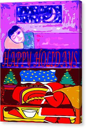 Happy Holidays 70 Canvas Print by Patrick J Murphy