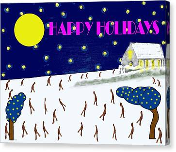 Happy Holidays 80 Canvas Print by Patrick J Murphy