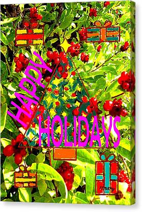 Happy Holidays 9 Canvas Print by Patrick J Murphy