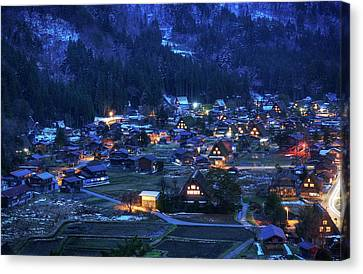 Canvas Print featuring the photograph Happy Holidays From Japan by Peter Thoeny