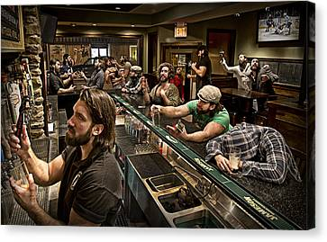 Happy Hour Canvas Print by Anthony Benussi