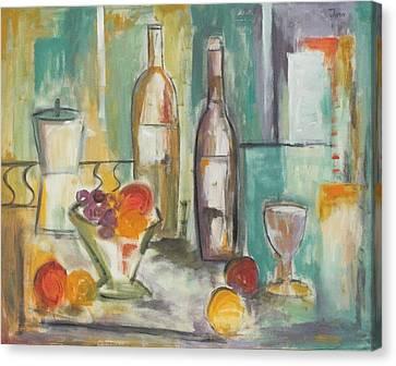 Happy Hour I Canvas Print by Trish Toro