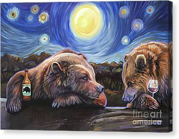 Indigenous Wildlife Canvas Print - Happy Hour by J W Baker