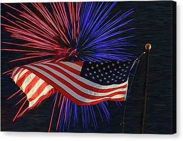 Happy Independence Day Canvas Print by Donna Kennedy