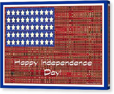 4th July Canvas Print - Happy Independence Day Poster by Marian Bell