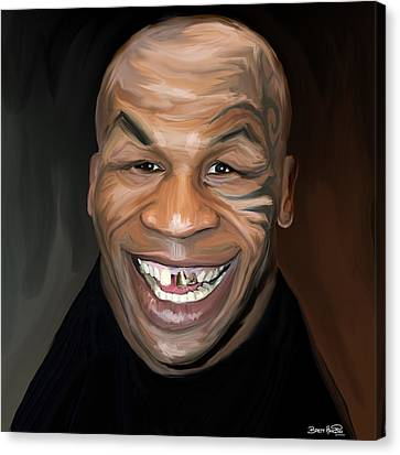 Happy Iron Mike Tyson Canvas Print by Brett Hardin