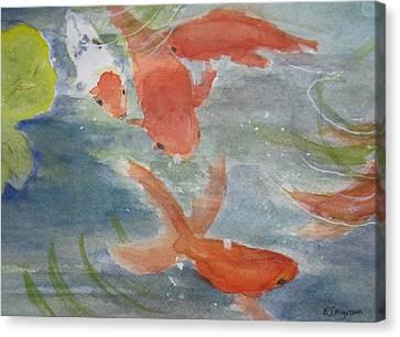 Happy Koi Canvas Print