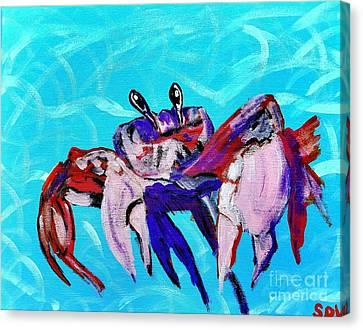 Happy Little Crab  Canvas Print by Scott D Van Osdol