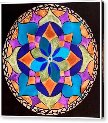 Happy Mandala  Canvas Print by Sandra Lira