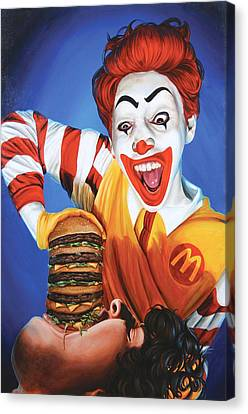 Happy Meal Canvas Print by Kelly Gilleran