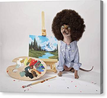 Happy Meowstakes Canvas Print