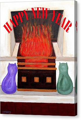 Happy New Year 2 Canvas Print by Patrick J Murphy