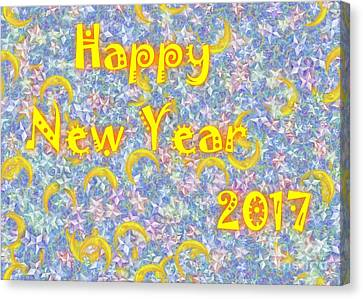 Happy New Year 2017 Canvas Print by Jean Bernard Roussilhe